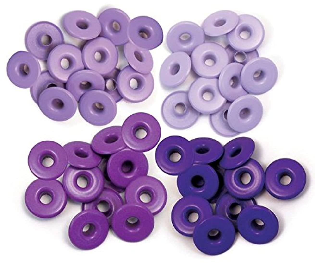 We R Memory Keepers 41591-6 Eyelets for Scrapbooking, Wide, Purple