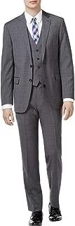 Mens Wool Glen Plaid Two-Button Suit