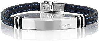BREIL - Bracciale Uomo Savage - Cinturino in Acciaio e Silicone - Lunghezza 22 cm