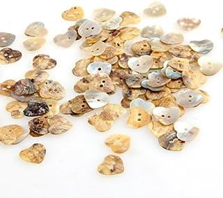 mackur pintada en forma de coraz/ón Mixta Impreso Flores con forma de coraz/ón de madera Botones de costura 2/agujeros botones de madera 18/mm 100pcs