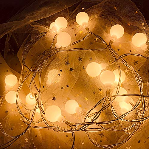 XBAO lichtketting, 3 m/6 m/10 m, LED, sterren, werkt op batterijen, decoratie voor binnen, tuin, huis, bruiloft, Kerstmis
