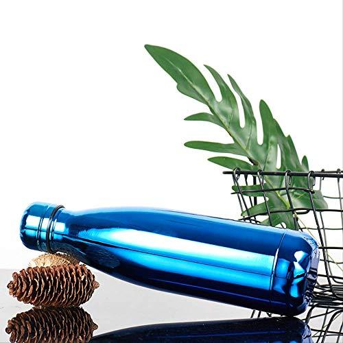 Thermoskanne Edelstahl Cola Flasche 450mI Stil drei,Vakuum-Thermosflasche,Stainless Edelstahl, Integrierter Thermobecher, Isolierung Isolierflasche Isolierkanne Kaffeekanne