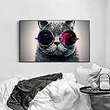 Pinturas sobre lienzo Gatos Gafas Gafas de sol wallpape impresiones de carteles...