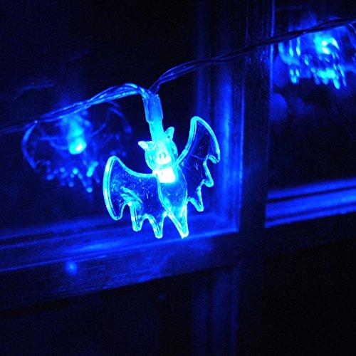à piles Halloween Bat Fée Guirlande lumineuse avec 20 LED Bleu on/scintillants Holloween fête fenêtre Porte Décor de Noël