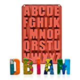 26 Cavities Silicone letters Mold Large Alphabet Chocolate Silicone Baking Mold (1)