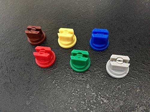 (6) Consejos de boquilla de ventilador de pulverización (boquillas planas de 110 grados) (una de cada uno) boquillas de pulverización para mochila – Pulverizadores PTO