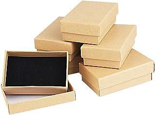Kbnian Scatole di Cartone Kraft 8 * 5 * 2.8cm Set Scatola di Cartone Kraft Scatole Regalo scatole di Gioielli Cartone Marr...