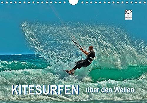 Kitesurfen - über den Wellen (Wandkalender 2021 DIN A4 quer)