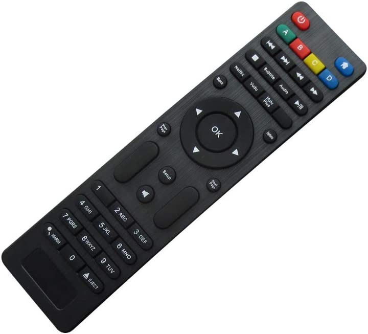 Universal Replacement Remote Control Fit for WD Western Digital WDBHZM0000NBK-UESN (C2H) WDTV HDTV Live HD Streaming Wi-Fi TV Media Player