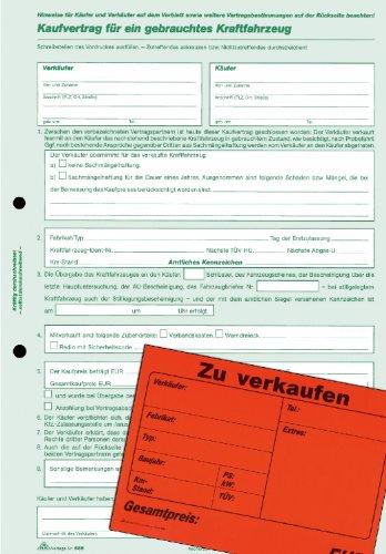 RNK Kaufvertrag gebrauchte Kfz./586/10 DIN A4 Inh.10