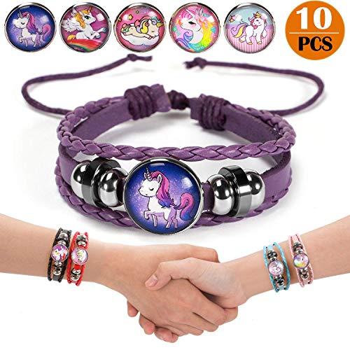 Latocos 10Stk Einhorn Armbänder Mädchen Einhorn Perlen Armband Einhorn Kinderschmuck Handgemacht...