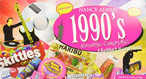 1990s Nancy Adams Nostalgic Candy Mix Gift Box 9.75 Oz. Gift Basket Classic 90's Candy