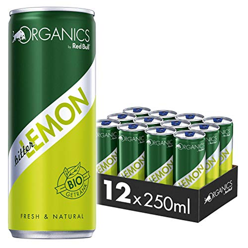 Organics by Red Bull Bitter Lemon Dosen Bio, 12er Palette, EINWEG (12 x 250 ml)