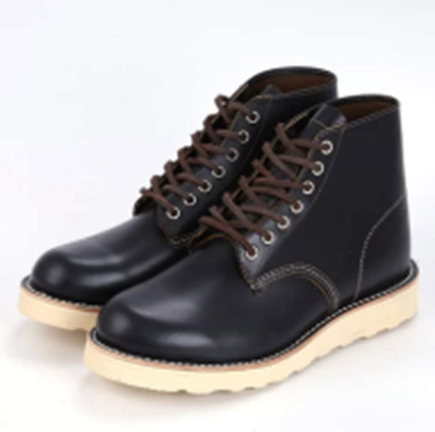shoes High Top Leather Safety (Black),45
