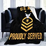Slily Marries Us Navy E-9 Fleet Force Master Chief Petty Throw Blankets Cozy Lightweight Decorative Blanket for Women Teenagers Men and Kids