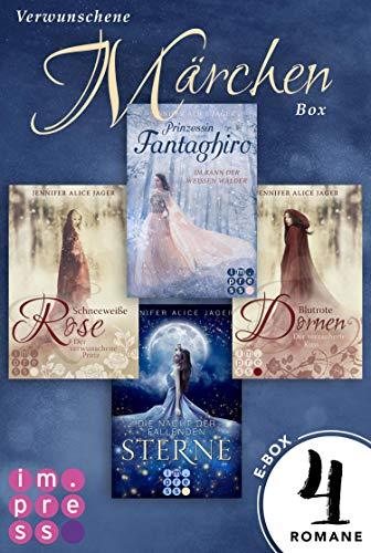 Verwunschene Märchen-Box: Vier Märchen-Romane von Jennifer Alice Jager in einer E-Box!
