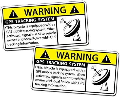 GPS Bicycle Alarm Security Caution Warning Tracking Decal Sticker Bike product image