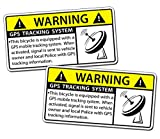 GPS Bicycle Alarm Security Caution Warning Tracking Decal Sticker Bike