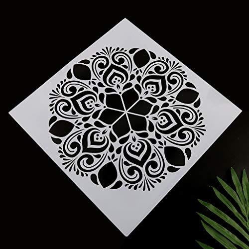 Haptian 4 stks/set Mandala Stencil muur schilderen DIY tekening sjabloon vloer tegels Funiture