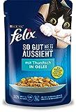 FELIX Katzennassfutter So gut wie es aussieht in Gelee mit Thunfisch 24x 85 g
