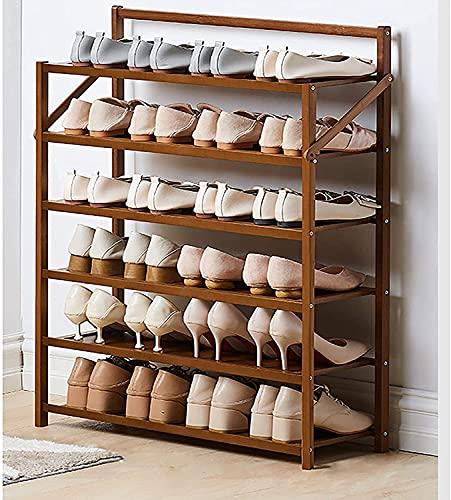TYSJL Rack per Scarpe, scarpiera in bambù Naturale, organizzatore di mensola per Scarpe Pieghevole, Non per Scarpe da Montaggio Shel per corridoio, Armadio, Fatto di Colore