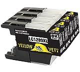 Yellow Yeti Sostituzione per Brother LC1280XL LC1240XL Cartucce d'Inchiostro Nero compatibili con Brother MFC-J430W MFC-J5910DW MFC-J6510DW MFC-J6910DW MFC-J825DW MFC-J625DW DCP-J925DW J725DW J525W
