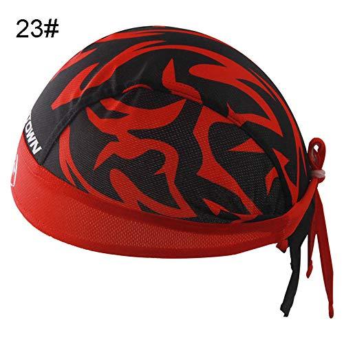 Gbksmm Coole Atmungsaktive Sommer Radkappen Sport Outdoor Laufrad Stirnband Sonnenrad Schal Bandana Fahrradhelm Laufhut-23