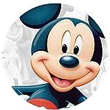 Mic-key Mouse - Alfombra antideslizante circular para dormitorio, sala de estar, lavable a máquina, decoración del hogar, piso interior de los niños