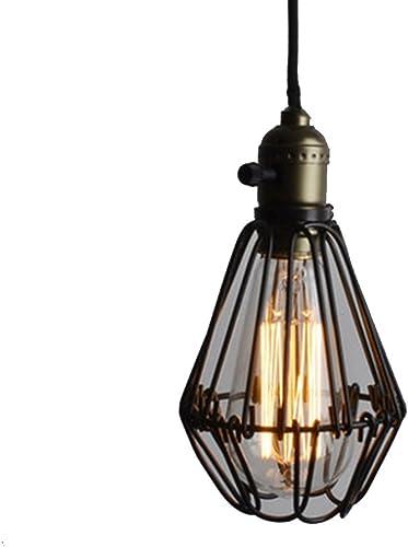 @lustre Lustre de plafond simple de tête de fer restaurant rétro de fer forgé (10cm  19cm) (Couleur   A-Lumière chaude)