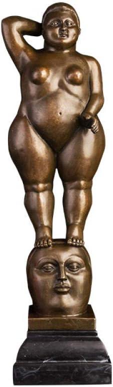 JYJYJY Escultura Figuritas Decorativas Escultura De Mujer De Grasa De Bronce De Fernando Botero, Famosa En Estilo Artístico