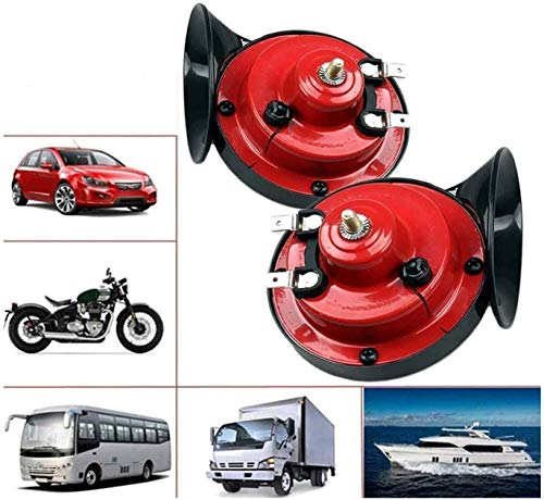 300db Train Horn for Trucks,12v Double Horn Raging, Loud Air Electric Snail Single Horn,Waterproof Motorcycle Snail Horn,Sound Raging Sound for Car Motorcycle【2 Pack】