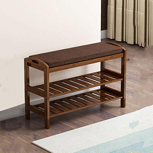 SH-xiejia - Estantería de Madera de bambú Natural de 2 Niveles para Zapatos, Organizador de Almacenamiento para Pasillo, baño, Sala de Estar (Varios tamaños)