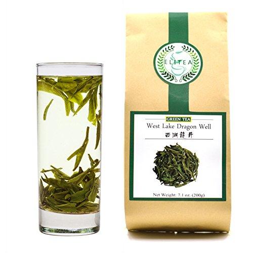 ELITEA Green Tea Loose leaf Quality Dragon Well Green Tea Xi Hu Long Jing China...