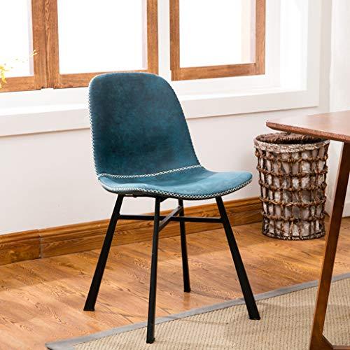 BAR STOOL Nordic minimalistischer Esszimmerstuhl Mode lässig Stuhl Eisen Rückenlehne Hocker Ergonomie Schlafzimmer der Küche im Freien Sattelkissen Sitzhöhe 47 cm