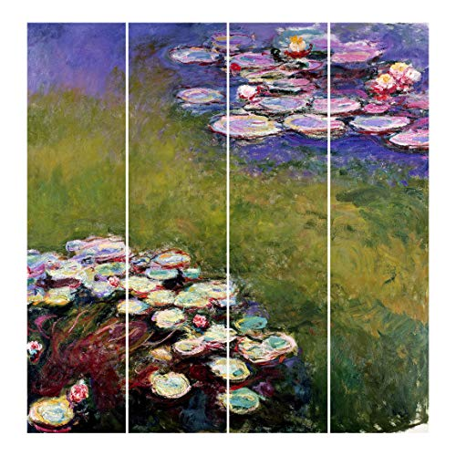 Bilderwelten Cortinas deslizables - C. Monet - 4 Paneles japoneses Montaje de Pared 250x240cm