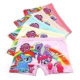 2-8 Years Old Girls Character Boyshort Panties Pink Pattern Underwear,Multipack