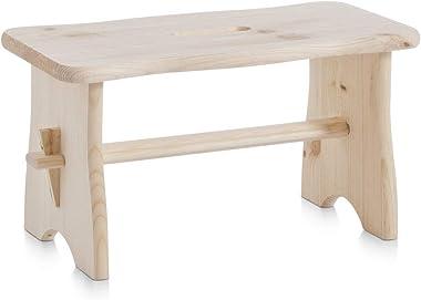 Zeller 13130 Repose pieds en bois tendre, 39 x 19 x 21 cm