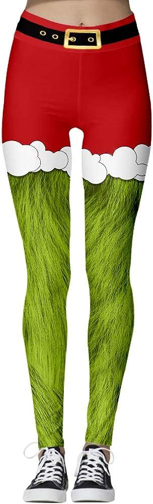 Ainyrose Women's Santa mart El Paso Mall Claus Holiday Christmas Active Stretchy P