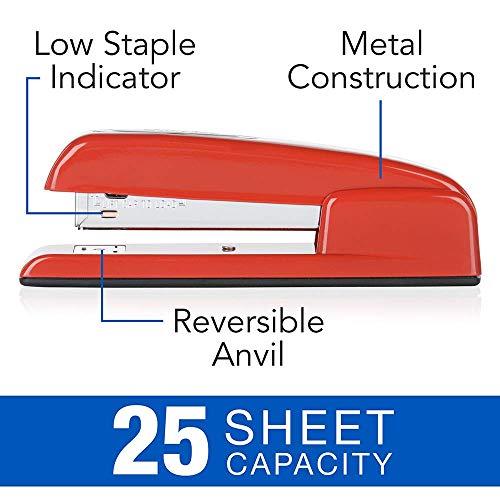 Swingline Stapler, 747 Iconic Desktop Stapler, 25 Sheet Capacity, Rio Red (74736)   Swingline Standard Staples 2 Pack   Stapler Remover Photo #2