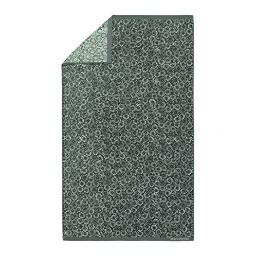 Marc O Polo Kahli Beach Towel - Asciugamani da bagno, 100% cotone velluto, 100 cm x 180 cm, colore: Verde