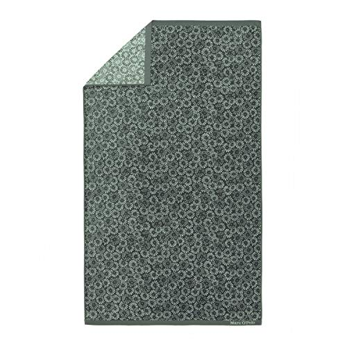 Marc O'Polo Kahli Beach Towel Badetuch, 100 % Baumwolle, Velours, Grün, 100 x 180 cm