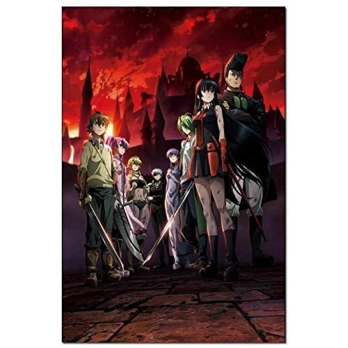 DuanWu Akame Ga Kill Girl Katana Fight Anime Pintura Arte Cartel impresión Lienzo decoración del hogar Imagen impresión de Pared -50x75 cm sin Marco 1 Uds