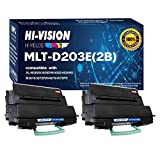 HI-VISION HI-YIELDS Compatible MLT-D203E High Yield Toner Cartridge Replacement for 203E, Used in Samsung SL-M3820DW SL-M3870FW SL-M4020ND SL-M4070FR Printer (Black 2 Pack)