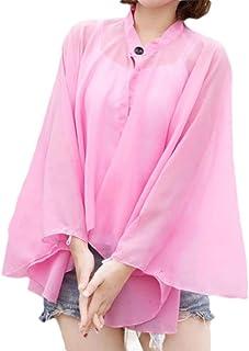 Andoky Protector Solar Manton Mujeres sólida conducción Playa de Gasa Tops Outwear