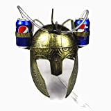 Sparta Drinking Helmet Beer Hat Cola Soda Cap Straw Roman Soldiers Dress Up Party (gold)