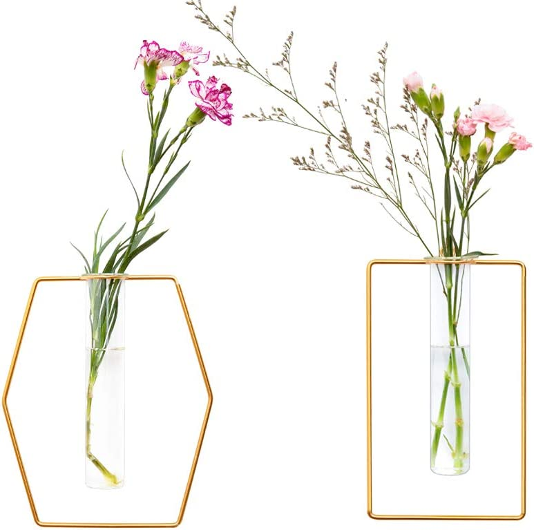 Pack of 2 Wall-Mounted Hydroponic In stock Surprise price Vases Planters Hanging Flower