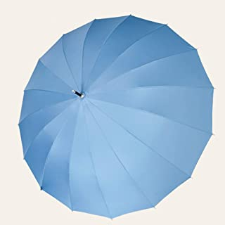 Household Umbrellas Light and Rain Umbrellas Large Double Umbrellas Five Colors Available HYBKY (Color : Blue)