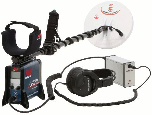 "Minelab GPX 5000 Metal Detector with 2 coils - 11"" Round DD and 15x12 Mono Search Coil"