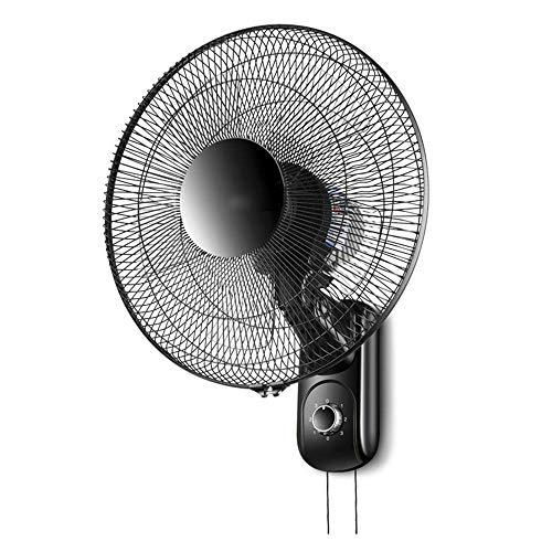 N / A 16inch der Wand befestigter Ventilator/Haus Kühlwand Fan/Oszillierende 3-Gang/Fernbedienung/Schwarz/Low Noise/Sicherheit Buckle,Erweiterte Netzkabel,mechanisch