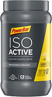 PowerBar Isoactive Lemon 600g - Bebida Deportiva Isotónica - 5 Electrolitos + C2MAX
